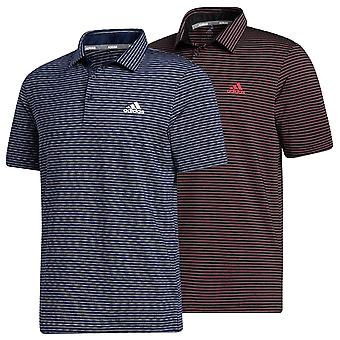 adidas Golf Mens 2020 Ultimate365 Space-Dye Camisa polo listrada