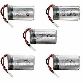 YUNIQUE® 5 PEZZI Batterie Lipo Ricaricabili per Hubsan X4 H107c H107d H107L da 3.7v 380mAh Rc Quadricottero