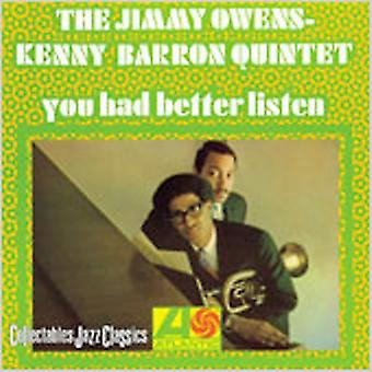 Owens/Barron - You Better Had Listen [CD] USA import