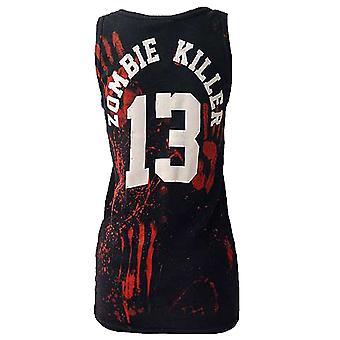 Darkside - zombie killer 13 - ribbed vest top - black