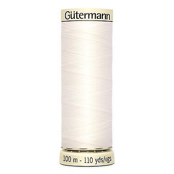 Gutermann sy-alle 100% polyestertråd 100m Hånd- og maskinfarvekode - 111