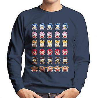 Sonic The Hedgehog Cute Characters Men's Sweatshirt