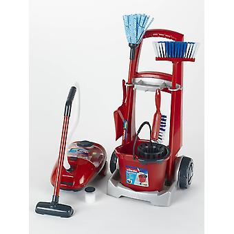 theo klein vileda cleaning trolley with vacuum cleaner includes mop bucket and