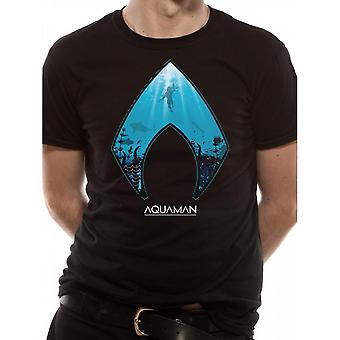 Aquaman Unisex Adults Movie Logo And Symbol Design T-Shirt