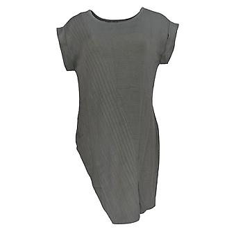 Women with Control Women's Sweater Asymmetric Hem Knit Gray A287083