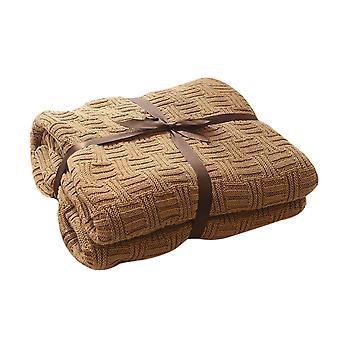YANGFAN 100% Coton Slub Knitted Throw