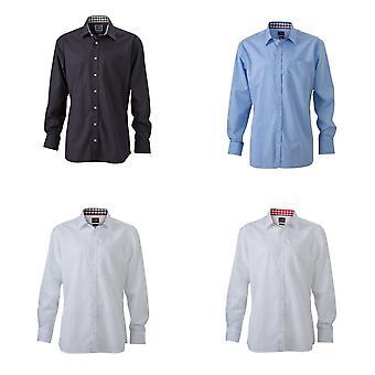 James y Nicholson para hombre llano camisa