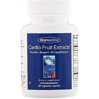 Allergie Onderzoeksgroep, Cardio Fruit Extracten, 60 vegetarische capsules