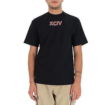 Gcds Fw21m02009902 Men's Zwart Katoen T-shirt