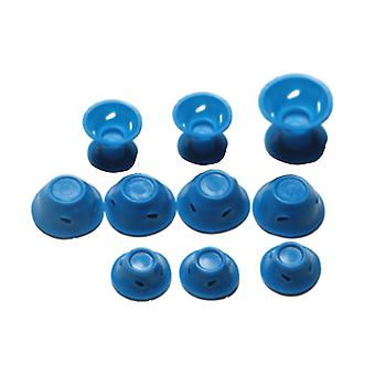 30PCS Silicone Mushroom Bell Hair Curler Dark Blue