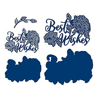 Tattered Lace Best Wishes Sentiment Die Set
