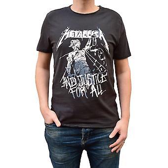 Förstärkt Metallica och rättvisa för alla Charcoal Crew Neck T-shirt