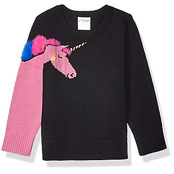 Brand - Spotted Zebra  Girl's Pullover Crew Sweaters, Unicorn, X-Small...