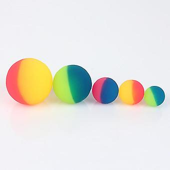3pcs/set Colorful Toy Ball Mixed Bouncy Ball, Child Elastic Rubber Kids Outdoor