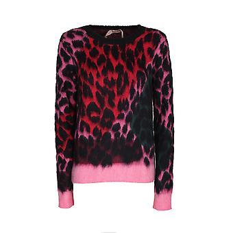 N°21 A0287268001 Femme-apos;s Pull en laine léopard