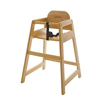 REYTID Snakka Stakka Eco Friendly Wooden Child High Chair | Made from 100% Recycled Materials | Stackable | 6 Months + | 3 Point Safety Harness | Baby Friendly