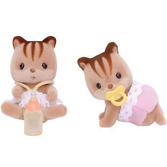 Teca maciza nogal ardilla gemelos