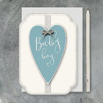 East of India New baby card - Baby boy with Heart