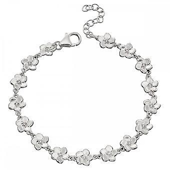 Elements Silver 3D Cherry Blossom With CZ Centre Bracelet B5177C