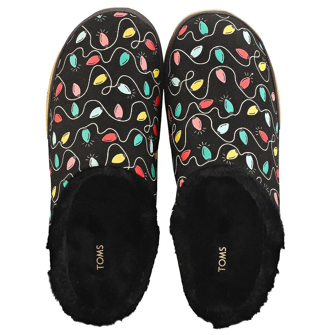Toms Ivy Holiday Lights Womens Slip On Shoes in Black Multicolour