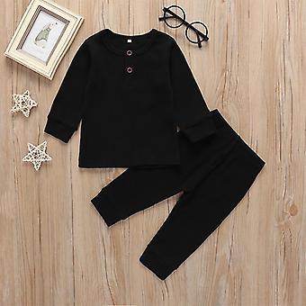 Solid Pajamas Cute Cotton Long Sleeve Unisex Biancheria intima Ragazzi Romper Bambino