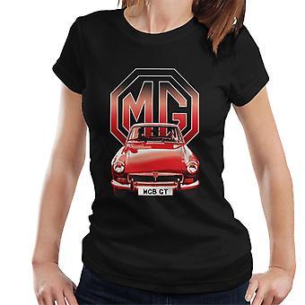 MG B GT Röd brittisk Motor Heritage Kvinnor's T-shirt