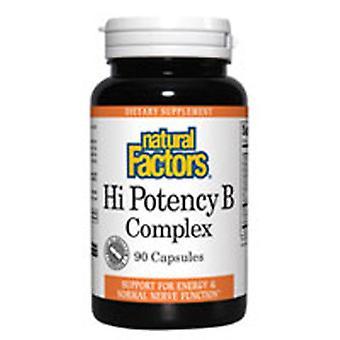 Natural Factors Hi Potency Vitamin B Complex, 50 mg, 90 Caps