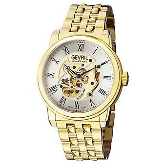 Gevril Men's 2692 Vanderbilt Automatic Gold IP Stainless Steel Wristwatch