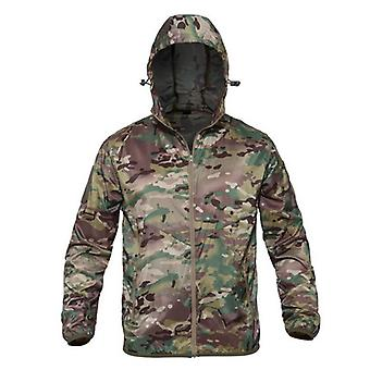 Men Military Camouflage Fleece Jacket - Tactical Windbreaker Coats