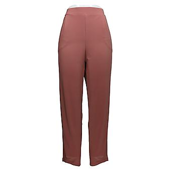 MarlaWynne Women's Pants Jersey Knit Pull On Tapered Leg Pink 680-417