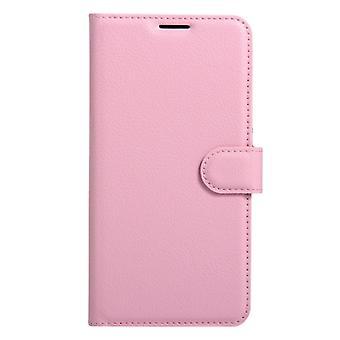 För Xiaomi Redmi Note 4 Litchi Textur horisontellt Flip läderfodral med hållare & Kortplatser & Plånbok(Rosa)