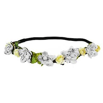 Flower Head Garland Crown Perfect for Festivals|Weddings or Summer days 2x White