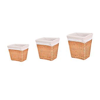 Wicker storage basket, household toys and sundries storage basket, square rattan storage basket