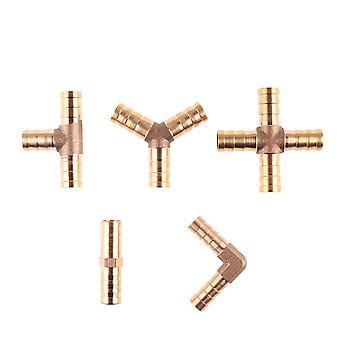 Brass Barb Pipe Fitting Straight Elbow Hose, Copper Barbed Connector Joint
