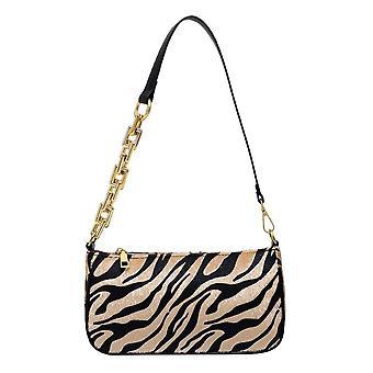 Frauen Messenger Handtaschen, Leder Street Casual Solid Reißverschluss Schultertaschen