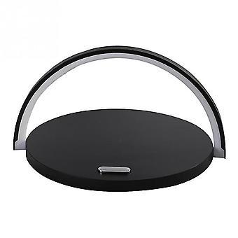 S21 Multi-function 10W Max Qi Standaard draadloze oplader telefoonhouder tafellamp 3 in 1 (zwart)