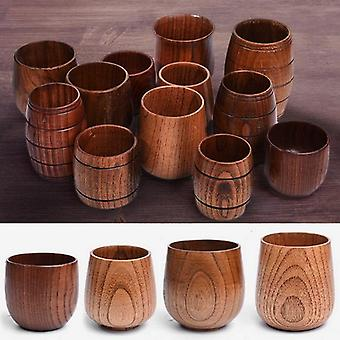 Wooden Big Belly Cups Handmade Natural Spruce Wood Cups