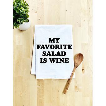 My Favorite Salad Is Wine Dish Towel