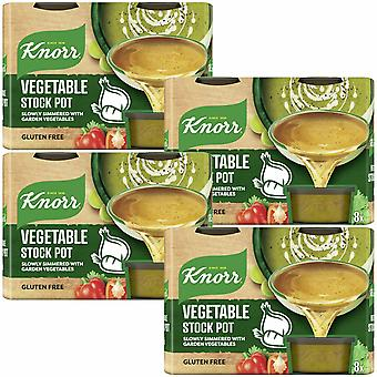 Knorr Stock Pot, Vegetal, 4 Paquetes de 224g