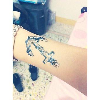 Anker og ror midlertidig tatovering