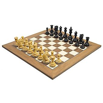 La cavalerie Ebony & noyer luxe Chess Set