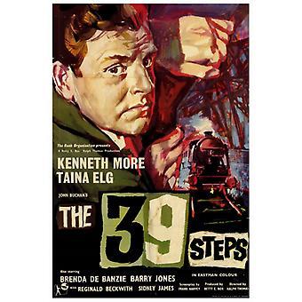 O 39 degraus Movie Poster Print (27 x 40)