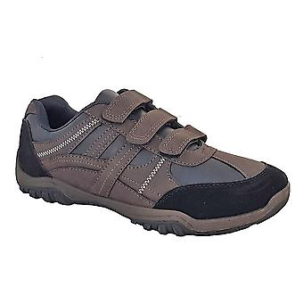 Route 21 Mens Waxy PU Trainers
