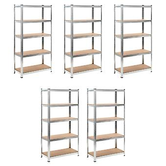 Heavy-duty shelf storage rack plug-in rack 5 pieces