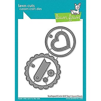 Lawn Fawn Scalloped Circle Gift Tag Dies