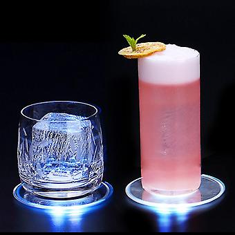 Base flash ultra fine led light coaster cocktail