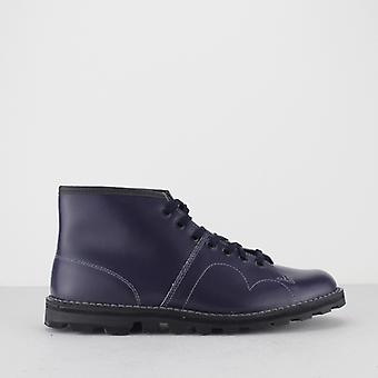 Grafters Unisex Original Leather Monkey Boots Navy