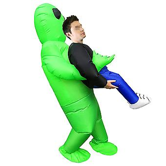 Inflatable Green Alien Costume For Adult And Kids