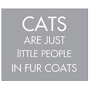 Hill Interiors Cats Zijn Just Little People Foil Plaque