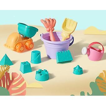 Morbido giocattolo da spiaggia in silicone per -bucket Porta utensili